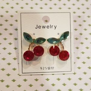 Jewelry - Cherry Gem Fashion Earrings